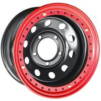 Диск усиленный стальной ORW чёрный 5x150 8xR16 d113 ET-14 с бедлоком (красный)