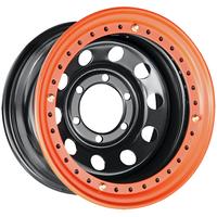 Диск усиленный стальной ORW чёрный 6x139,7 8xR15 d110 ET-19 с бедлоком (оранжевый)