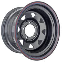 Диск усиленный УАЗ стальной черный 5x139,7 9xR16 d110 ET-30 (треуг. мелкий)