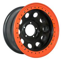 Диск усиленный УАЗ стальной черный 5x139,7 8xR17 d110 ET-19 с бедлоком (оранжевый)