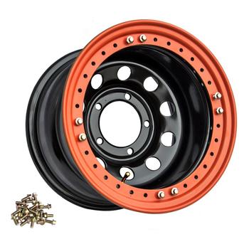 Диск усиленный стальной ORW чёрный 5x139,7 10xR16 d110 ET-44 с бедлоком (оранжевый)