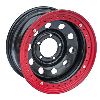 Диск усиленный стальной ORW чёрный 5x139,7 10xR16 d110 ET-44 с бедлоком (красный)
