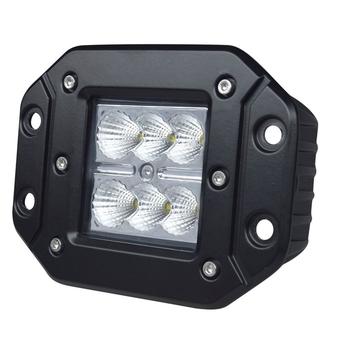 Светодиодная фара GR-1218S2F 18W рабочий свет врезная